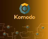 Blockchain komodo symbol network concept finance background. Vector illustration Stock Image