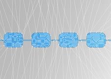 Blockchain-Konzept als Illustration Lizenzfreies Stockbild