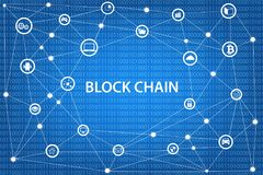 Blockchain network concept Stock Image