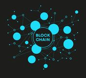 Blockchain cryptocurrency template. Blockchain network concept , Distributed ledger technology , Block chain text and computer connection. The file is saved in Royalty Free Stock Photos