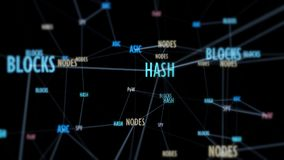 Blockchain-Network Connections Lizenzfreies Stockbild