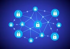 Blockchain network stock illustration