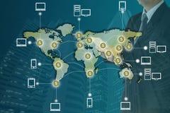 Blockchain pojęcie ilustracja wektor