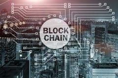 Blockchain pojęcie w bazy danych zarządzaniu Zdjęcie Stock