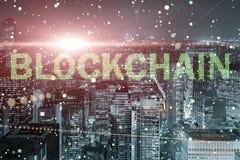Blockchain pojęcie w bazy danych zarządzaniu Fotografia Royalty Free