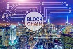 Blockchain pojęcie w bazy danych zarządzaniu Zdjęcia Royalty Free