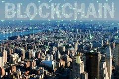 Blockchain pojęcie w bazy danych zarządzaniu Obrazy Stock