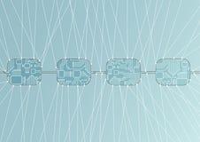 Blockchain pojęcie jako ilustracja Obraz Royalty Free
