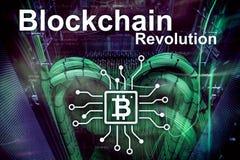 Blockchain revolution, innovation technology in modern business. Blockchain revolution, innovation technology in modern business royalty free stock image