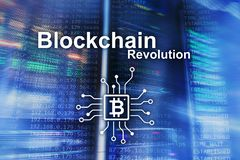 Blockchain revolution, innovation technology in modern business royalty free stock photos