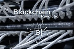 Blockchain revolution, innovation technology in modern business.  royalty free stock image
