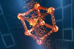 Blockchain technologia Globalny decentralizujący baza danych przyszłość royalty ilustracja