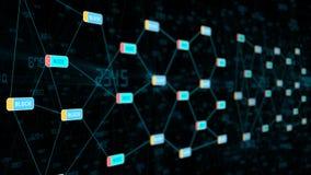 Blockchain-Technologie-Datenübertragung Lizenzfreies Stockbild