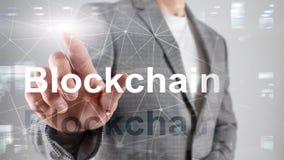 Blockchain-Technologie Konzept auf Serverhintergrund Daten-Verschlüsselung lizenzfreies stockfoto