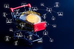 Blockchain-Technologie von ethereum bitcoin cryptocurrency Konzept Stockbilder