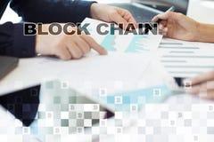 Blockchain-Technologiekonzept Internet-Geldüberweisung Cryptocurrency Lizenzfreie Stockfotos