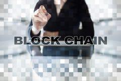 Blockchain technologii pojęcie Internetowy przelew pieniędzy Cryptocurrency Obrazy Royalty Free