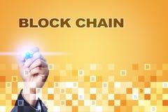Blockchain technologii pojęcie Internetowy przelew pieniędzy Cryptocurrency Zdjęcia Stock