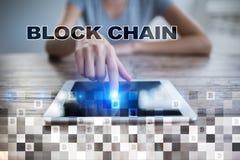 Blockchain technologii pojęcie Internetowy przelew pieniędzy Cryptocurrency Zdjęcie Stock