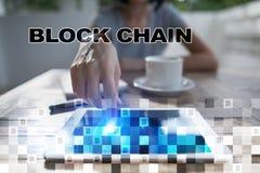 Blockchain technologii pojęcie Internetowy przelew pieniędzy Cryptocurrency Fotografia Royalty Free