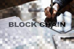 Blockchain technologii pojęcie Internetowy przelew pieniędzy Cryptocurrency Zdjęcie Royalty Free