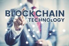 Blockchain technologii pojęcie Zdjęcia Royalty Free