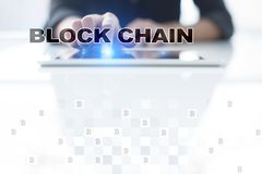 Blockchain technology concept. Internet money transfer. Cryptocurrency. Blockchain technology concept. Internet money transfer. Cryptocurrency Royalty Free Stock Photography