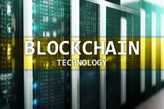 Blockchain technology, cryptocurrency mining. Blockchain technology Royalty Free Stock Images