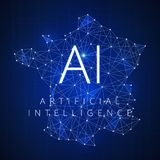 Blockchain technology artificial intelligence concept. Stock Images