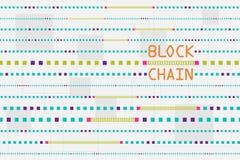 Blockchain und Datenbankkonzept Lizenzfreie Stockfotos