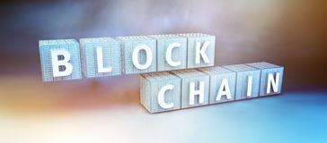 Blockchain-Verschlüsselungskonzept Lizenzfreie Stockfotos