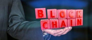 Blockchain-Verschlüsselungskonzept Stockfoto