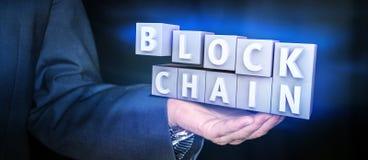 Blockchain-Verschlüsselungskonzept Lizenzfreies Stockbild