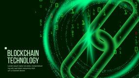 Blockchain wektor Rozdzielona księgi głównej technologia Sieci tła ilustracja Obraz Royalty Free