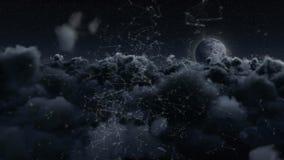Blockchainlijn stock illustratie