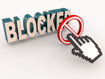 Blocked access Royalty Free Stock Photos