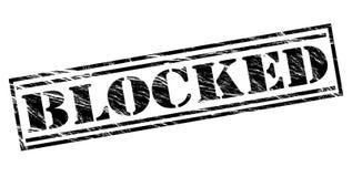 Blocked black stamp. Isolated on white background Royalty Free Stock Photo