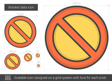 Blocked data line icon. Royalty Free Stock Images