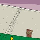 Blocked Door and Ladder stock illustration
