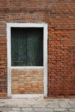 Blocked door by wall Royalty Free Stock Images