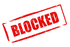 Blocked red rubber stamp Stock Photography