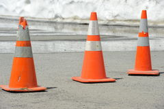 Safety Cones Stock Image