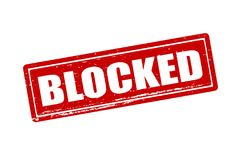 Blocked. Rubber stamp with word blocked inside,  illustration Royalty Free Stock Images