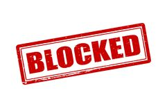 Blocked. Rubber stamp with word blocked inside,  illustration Stock Photos