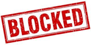 Blocked square stamp. Blocked square red grunge stamp Royalty Free Stock Image