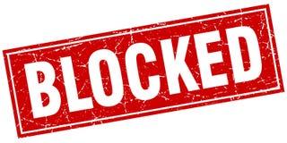Blocked square stamp. Blocked red grunge square stamp Stock Image