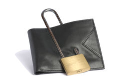 Blocked wallet Royalty Free Stock Photo