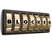 Blocked Word Safe Dials Locked Access Secure Safety Protection Royalty Free Stock Photo