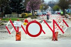 Blocken einer Straßenbausites Lizenzfreie Stockfotografie