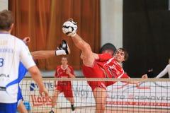 Blocken Jakub Medek - tschechisches Fußballtennis Stockfoto